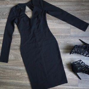 Fashion Nova Mariah Dress in Black